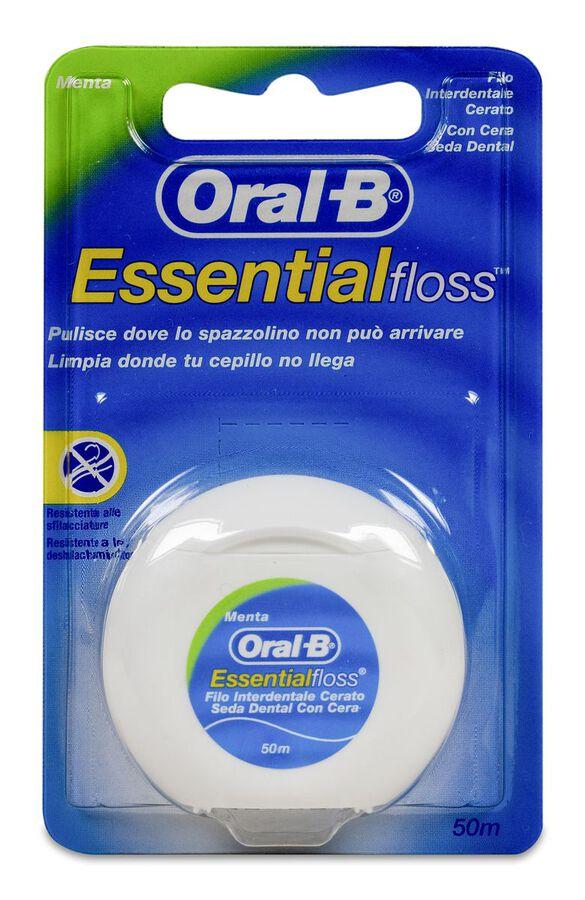 Oral-B Essential Floss Seda Dental Flúor-Menta 50 m, 1 Ud