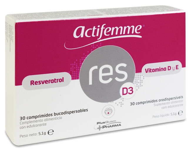 Actifemme ResD3, 30 Comprimidos Bucodispersables