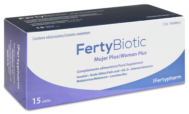 Fertybiotic Mujer Plus, 15 Sticks