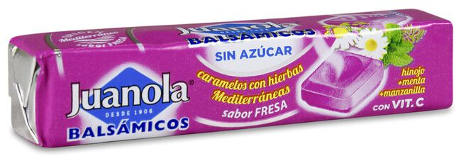 Juanola Caramelos Balsámicos Fresa, 10 Uds