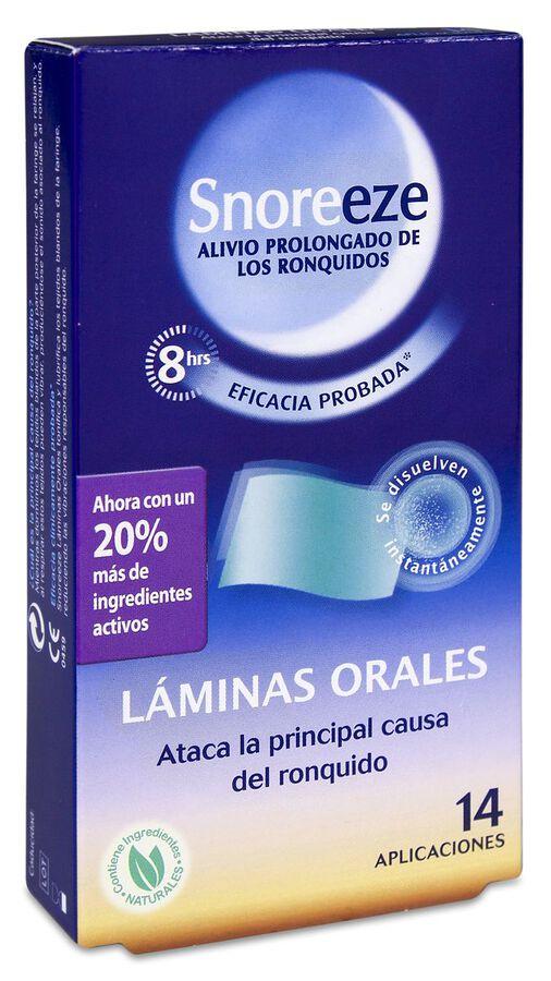 Snoreeze Láminas Orales, 14 Comprimidos