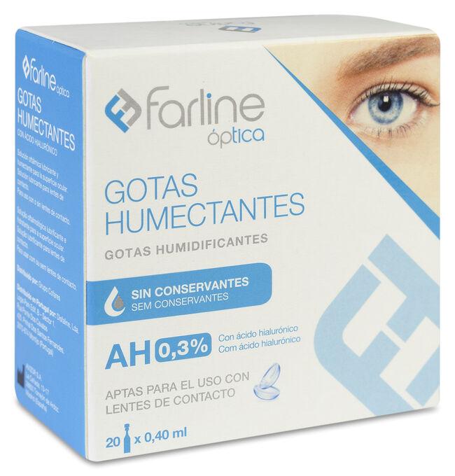 Farline Gotas Humectantes 0,3% AH APTAR Monodosis, 20 Uds