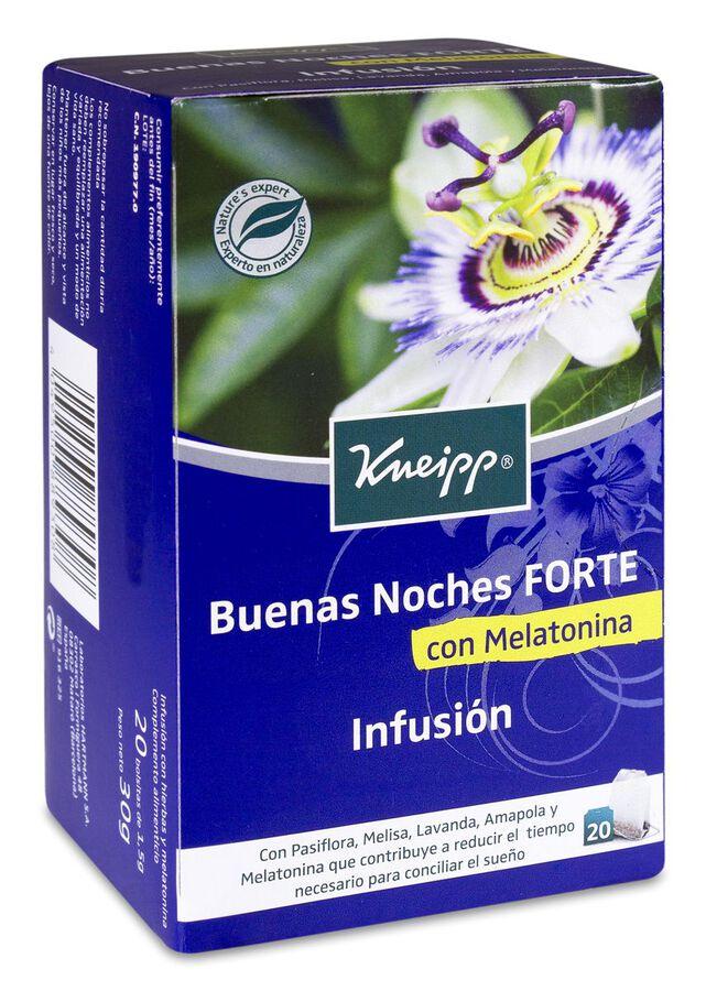 Kneipp Infusión Buenas Noches Forte con Melatonina, 20 Uds