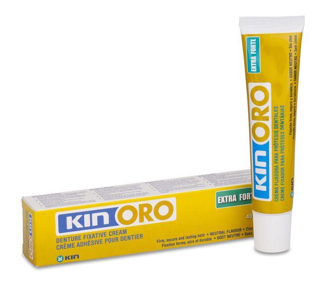 Kin Oro Crema Fijadora Adhesivo Protesis Dental, 40 g