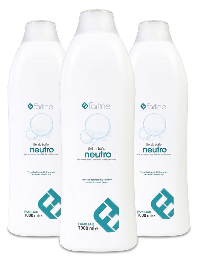 Pack Triplo Farline Gel de Baño y Ducha Neutro, 1 L