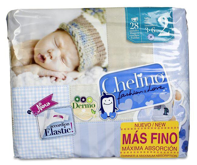 Chelino Fashion&Love Talla 2, 3-6kg, 28 Uds