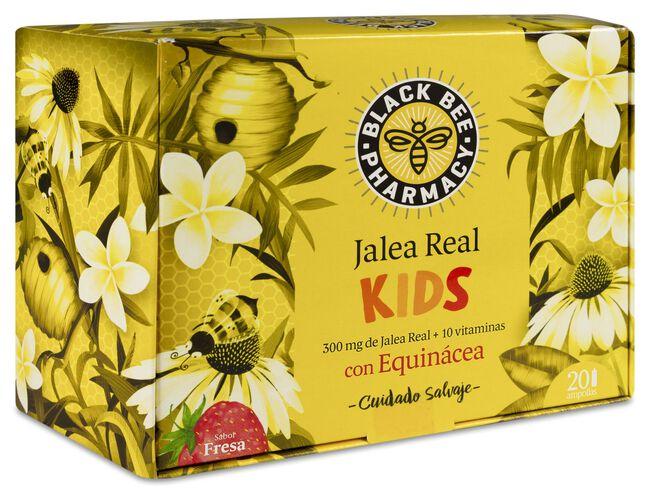 Black Bee Pharmacy Jalea Real Kids, 20 Ampollas