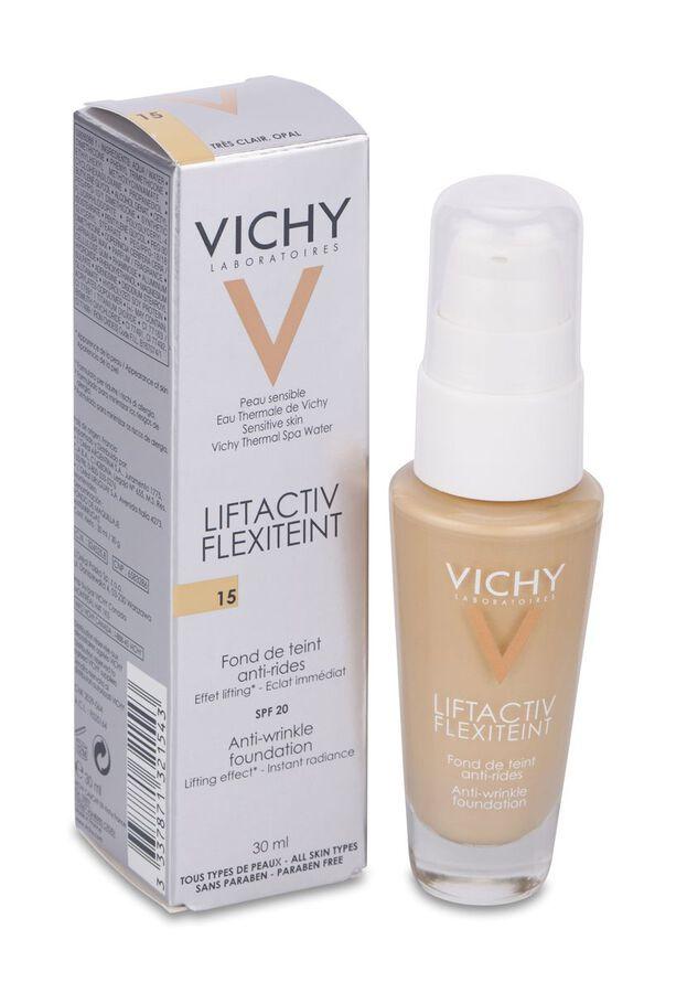Vichy Flexilift Teint 15 Opal Fondo De Maquillaje Antiarrugas, 30 ml