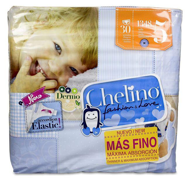 Chelino Fashion & Love Pañales Talla 5 (13-18 kg), 30 uds