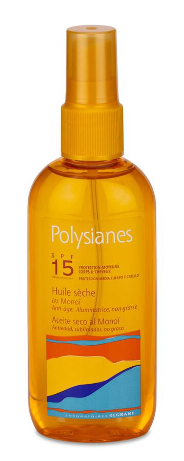 Polysianes Aceite Seco SPF 15 Cuerpo y Cabello, 150 ml