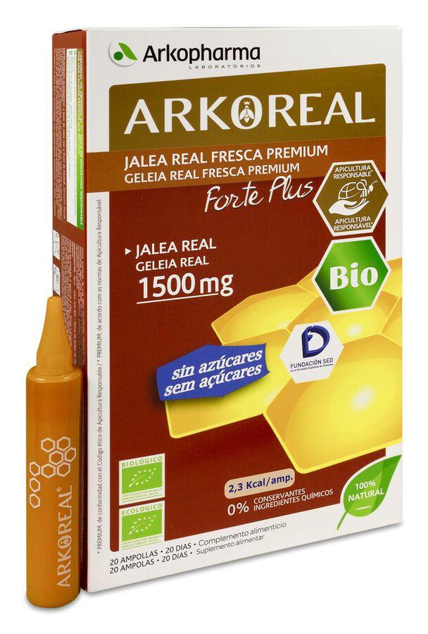 Arkopharma ArkoReal Jalea Real Forte Plus, 20 Ampollas