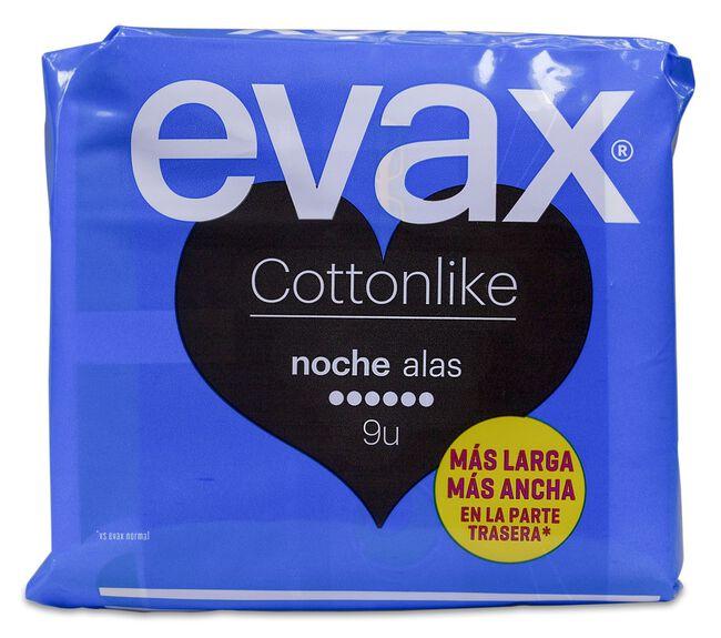 Evax Cottonlike Noche Alas, 9 Uds