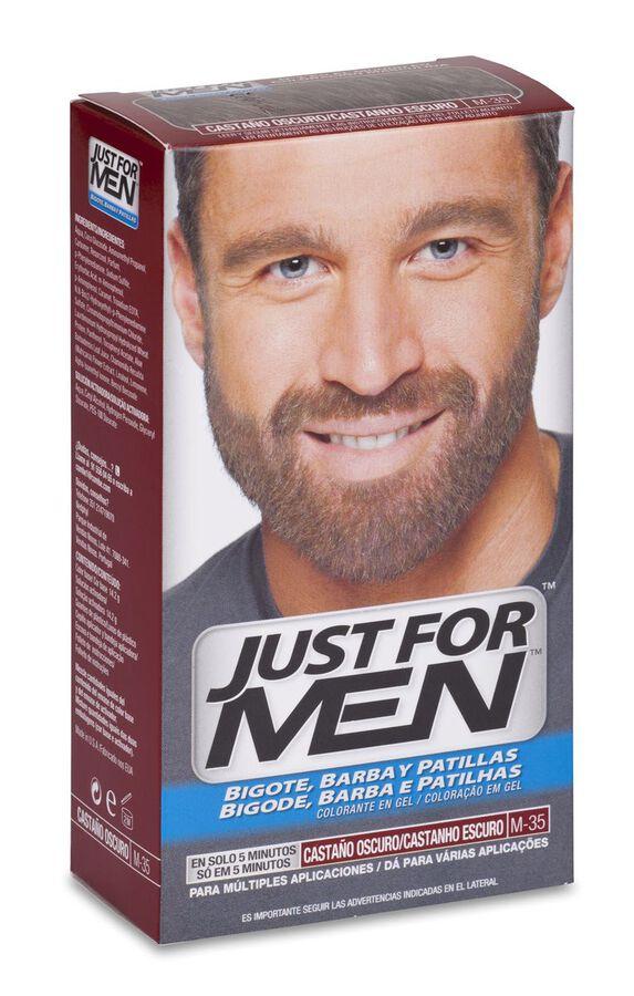 Just For Men Bigote Y Barba Gel Colorante 30 Cc Castaño Oscuro, 1 Ud