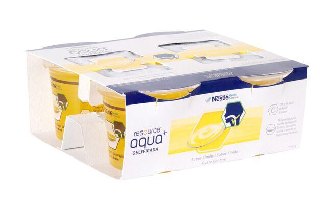 Resource Aqua+ Gelificada Limón, 4 Uds