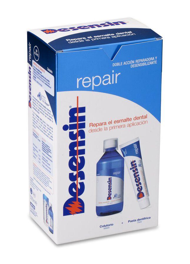 Pack Desensin Repair Pasta Dental, 75 ml + Colutorio 500 ml, 1 Ud