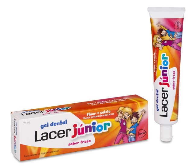 Lacer Junior Gel Dental Sabor Fresa, 75 ml