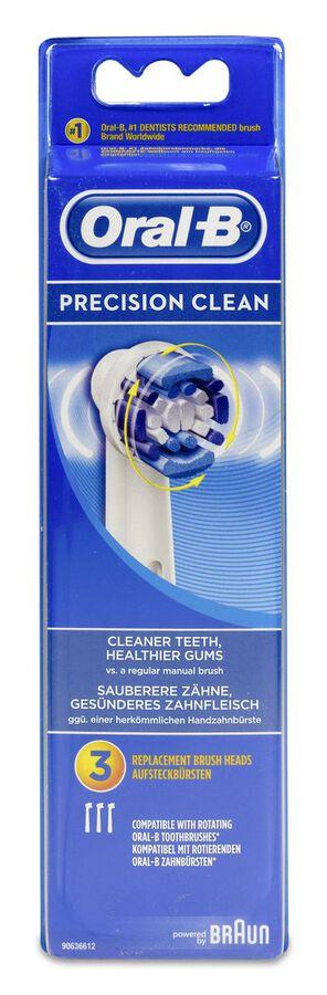 Oral-B Recambio Cepillo Dental Eléctrico Recargable Precision Clean, 3 Uds