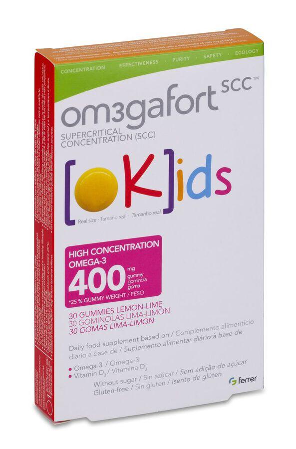 Om3Gafort Okids Omegafort, 30 Uds