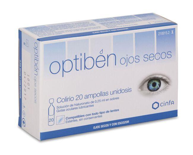 Optibén Ojos Secos 0,25 ml, 20 Uds
