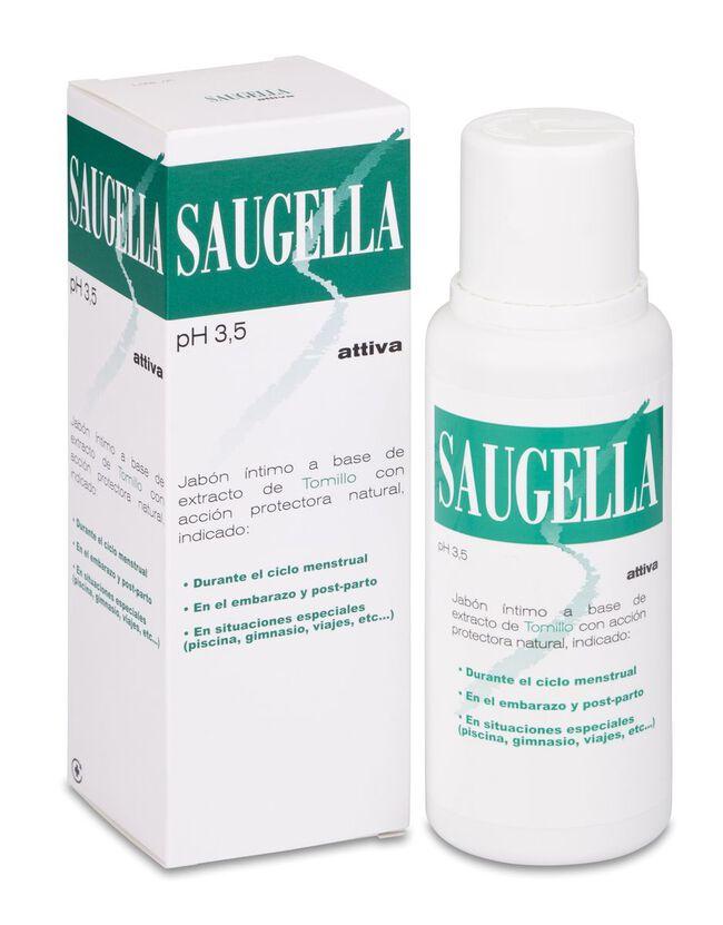Saugella Attiva Jabón Íntimo, 250 ml