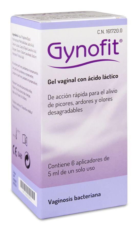 Gynofit Gel Vaginal Ácido láctico, 6 Uds