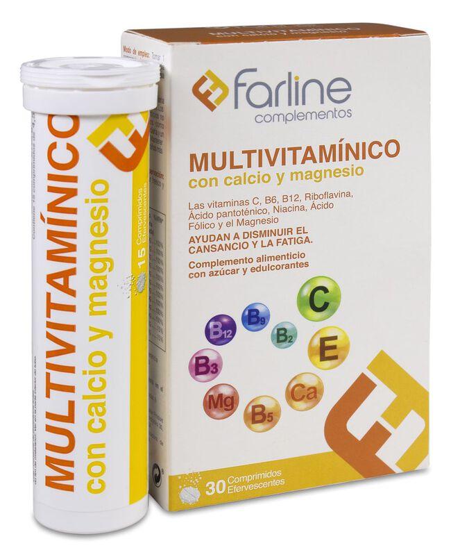 Farline Multivitamínico Efervescente, 30 Comprimidos
