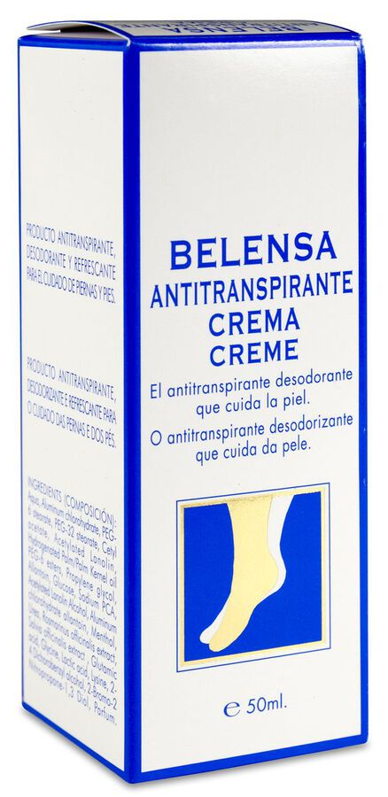 Belensa Crema Antitranspirante, 50 ml