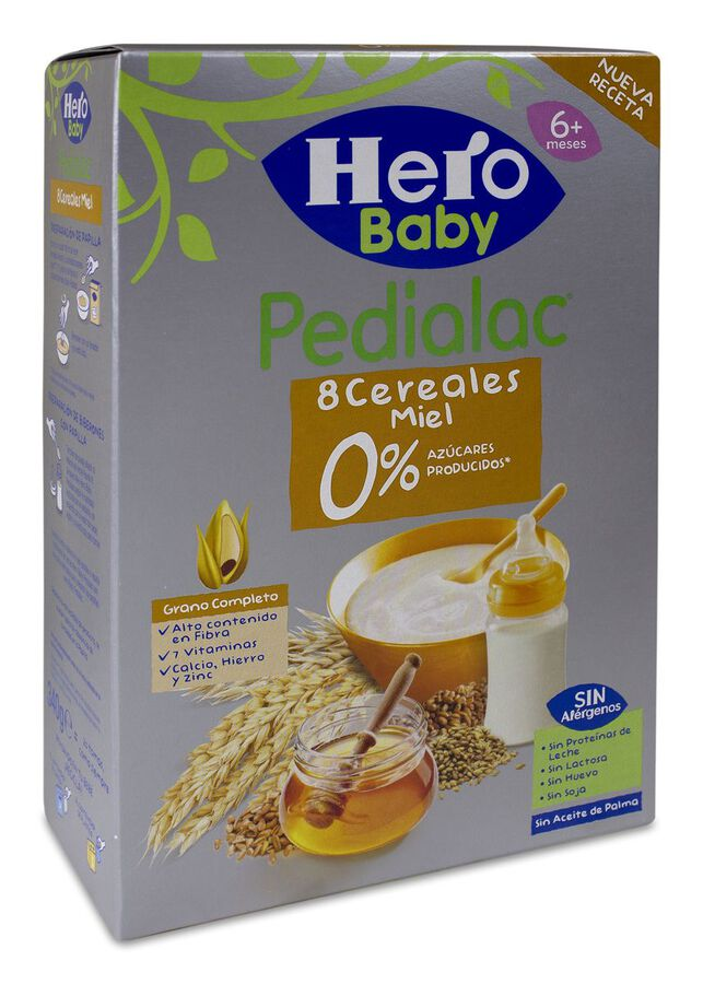 Hero Baby Pedialac Papilla 8 Cereales y Miel, 340 g image number null