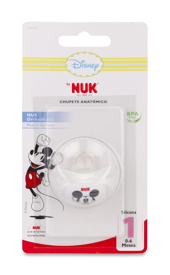 Nuk Trendline Mickey Mouse Chupete Silicona 0-6 M, 1 Ud