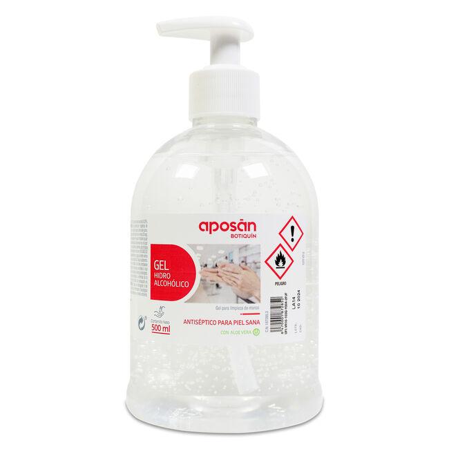 Aposán Gel Biocida Desinfectante Manos 72 % Alcohol, 500 ml
