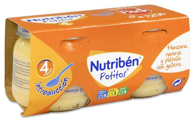 Nutribén Potitos Introducción Manzana, 2 Uds
