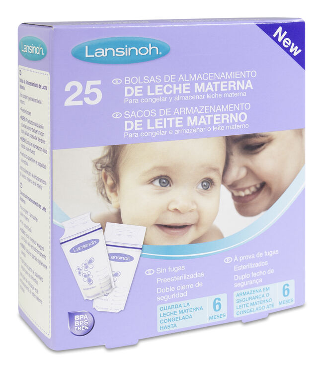 Lansinoh Bolsas de Almacenamiento Leche Materna image number null