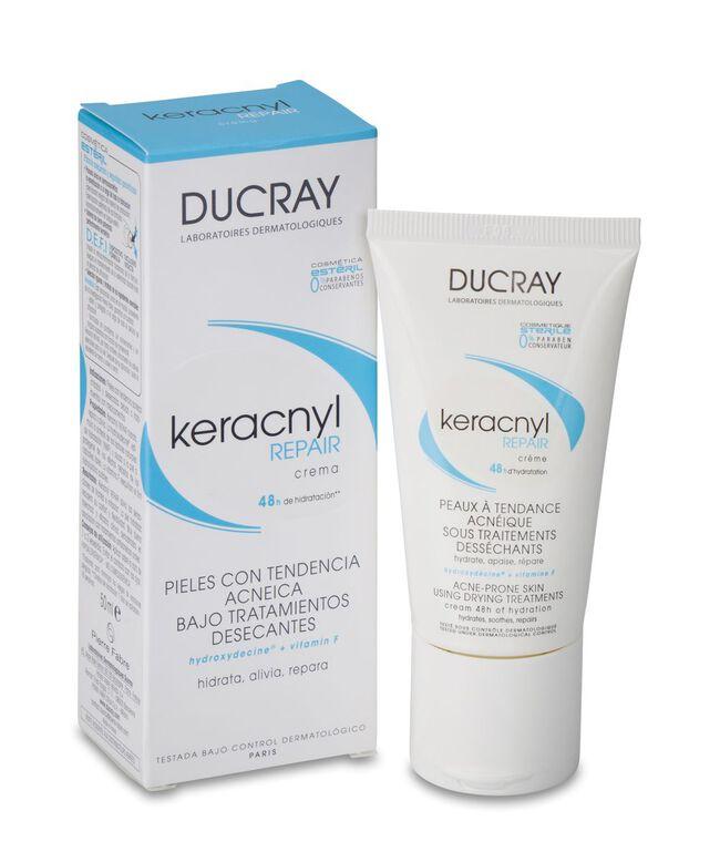 Ducray Keracnyl Repair Crema Pieles Bajo Tratamientos Desecantes, 50 ml