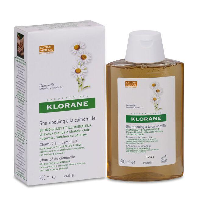 Klorane Champú Reflejos Dorados al Extracto de Camomila, 200 ml