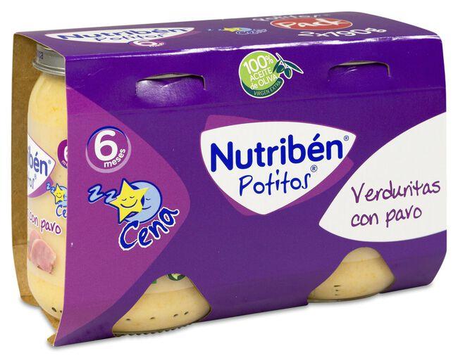 Nutribén Potitos Verduritas y Pavo, 2 Uds