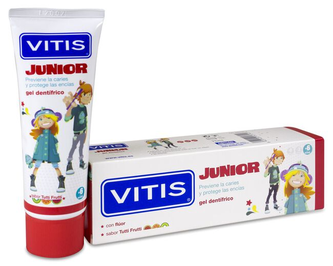 Vitis Junior Gel Dentífrico Sabor Tutti Frutti, 75 ml