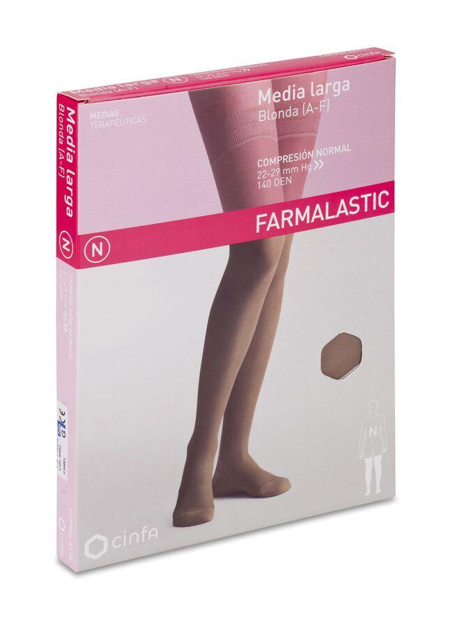 Farmalastic Media Larga de Compresión Normal Camel Grande, 1 Par