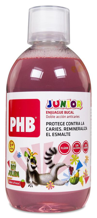 PHB Junior Enjuague Bucal, 500 ml