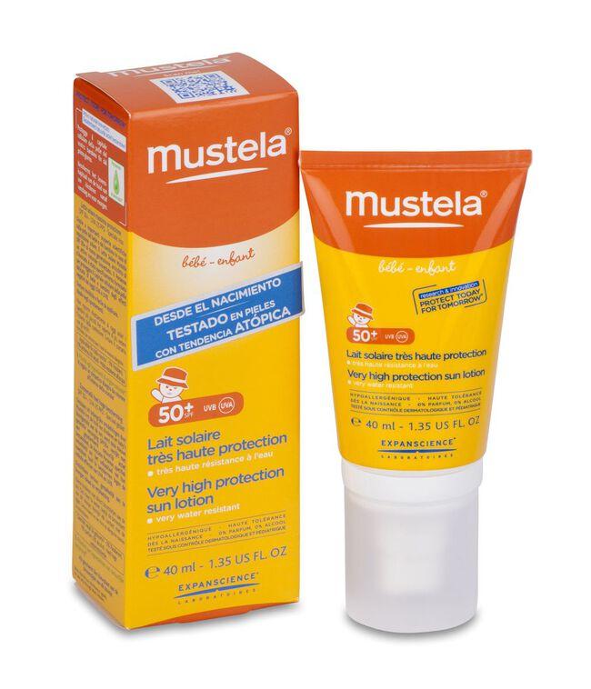 Mustela Leche Solar Cara SPF 50+, 40 ml