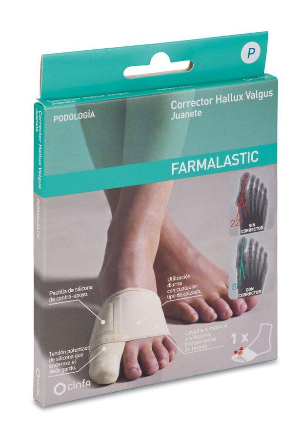 Farmalastic Corrector Juanete/Hallux Valgus Talla Pequeña, 1 Ud