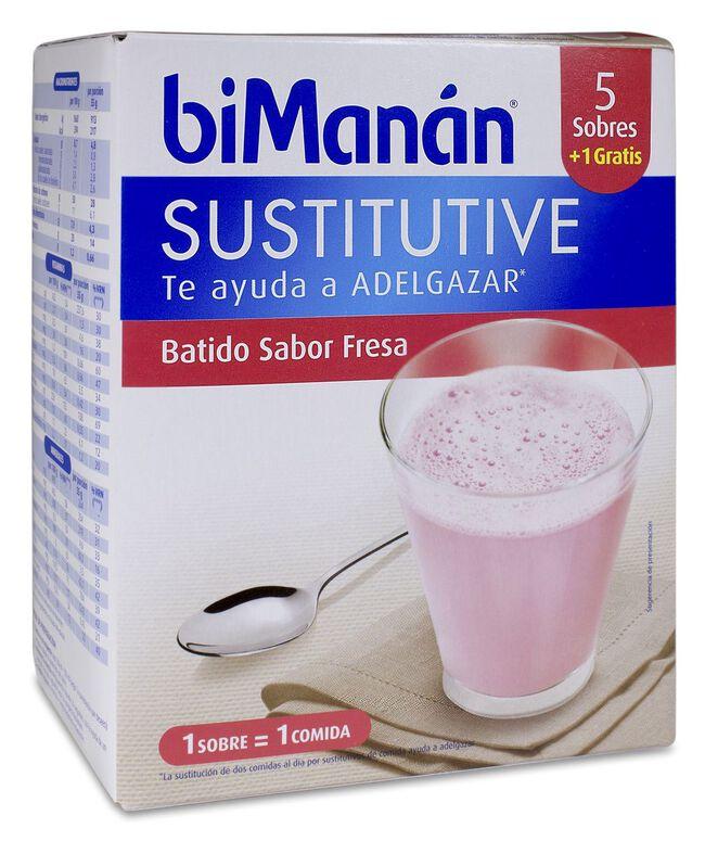 biManán Batido Fresa, 6 Uds