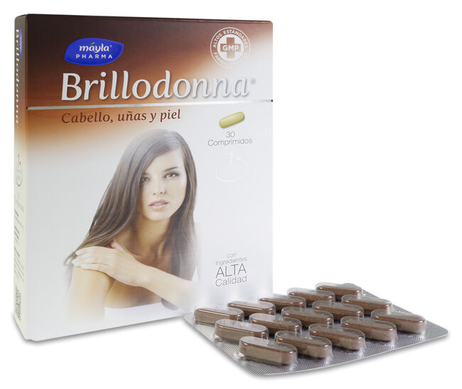 Máyla Pharma Brillodonna Cabello, Uñas y Piel, 30 Cápsulas
