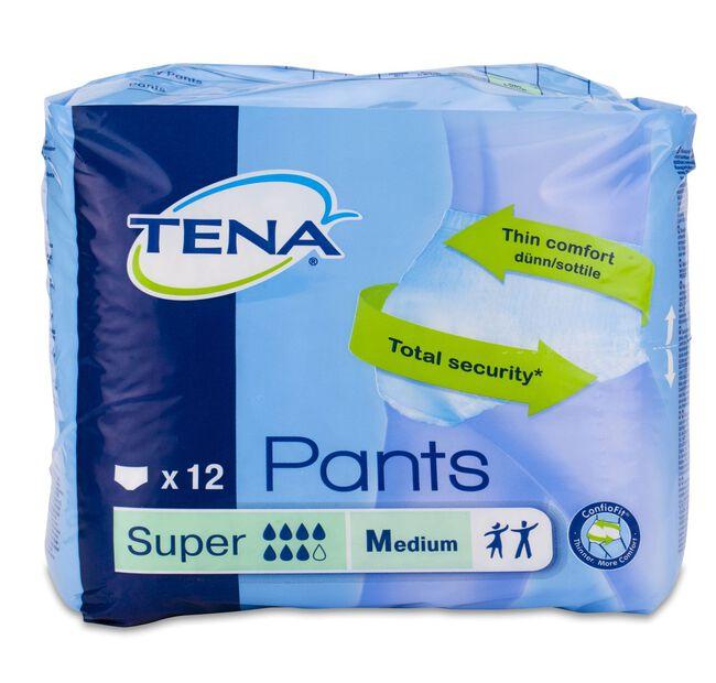 Tena Pants Super Orina Ligera Talla M, 12 Uds