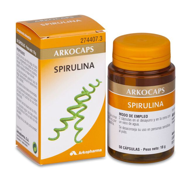 Arkopharma Arkocápsulas Spirulina, 50 Cápsulas