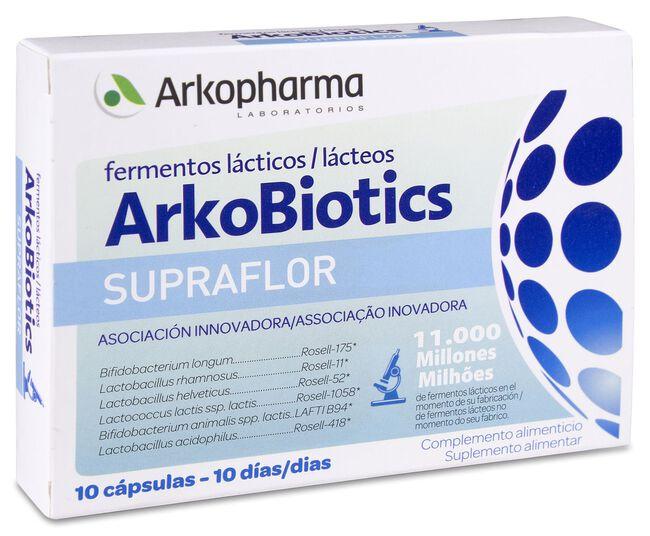 Arkopharma Arkobiotics Supraflor, 10 Cápsulas