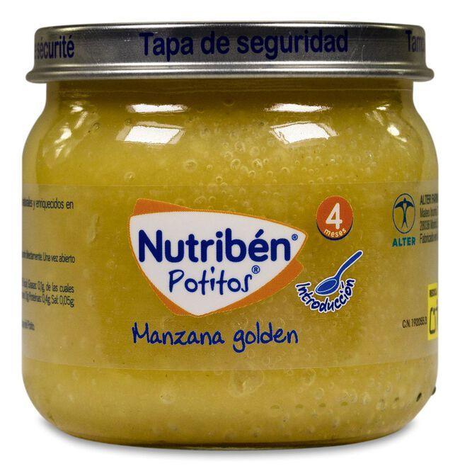 Nutribén Potitos Introducción a la Manzana Golden, 120 g