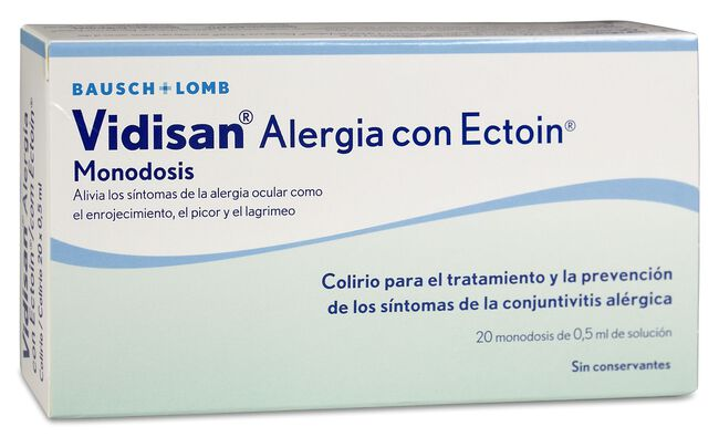 Vidisan Alergia con Ectoin, 20 Uds