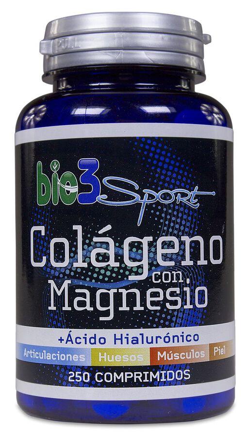 Bie3 Sport Colágeno con Magnesio, 250 Comprimidos