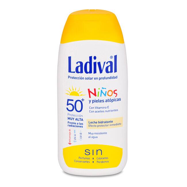 Ladival Niños y Piel Atópica Leche Fotoprotectora SPF 50+, 200 ml
