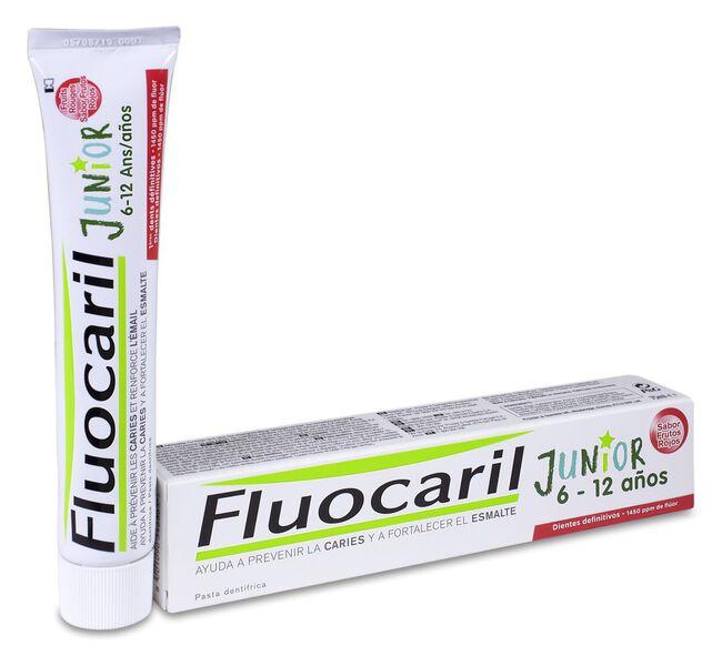 Fluocaril Junior Sabor Frutos Rojos, 75 ml